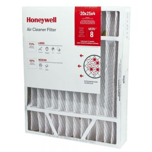 Honeywell Air Filter High Efficiency - 20x25x4 - Merv 8