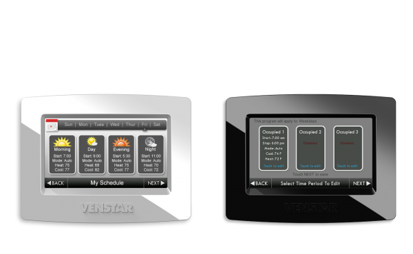 Venstar Thermostat Simple Scheduling