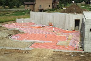 Radiant floor heating installation in Des Moines