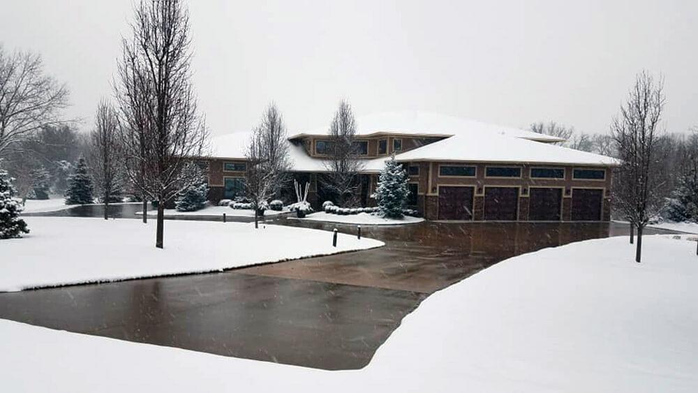 Snow Melt Driveway Installation in Des Moines